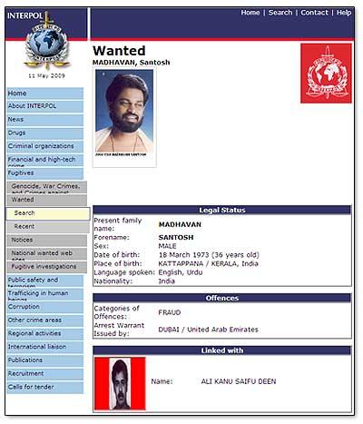 santosh-madhavan-interpol-wanted-criminal